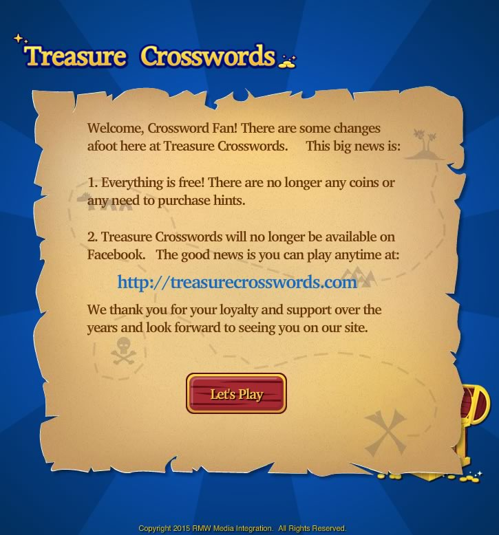 Go to Treasure Crosswords